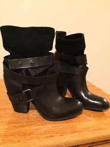 Guess Leather Black Women's Boots