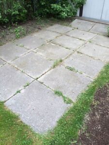 Free used patio slabs (already spoken for)