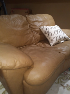 Leather Sofa & Love - almost new