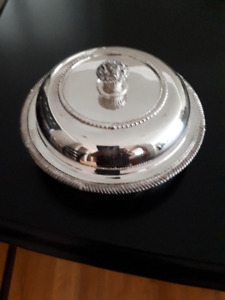 10 inch Silver Plated Serving Dish with Lid
