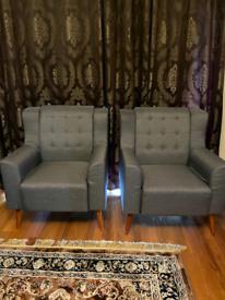 2 linen fabric tub Sofas/Arm Chairs