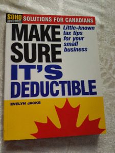 """""""Make Sure It's Deductible"""" by Evelyn Jacks Asking $12.00  """"Make"""