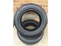 2 Khumo part worn 195/55/15 tyres ***5.5mm***