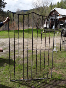 Double gate ..wrought iron..