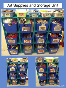 Arts and Craft Supplies and Storage Unit