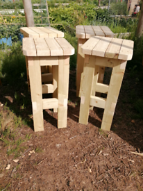Bar Stool Wooden Handcrafted £30 single £60 pair £110 four