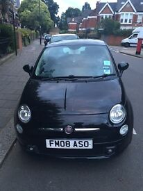 Fiat 500 1.4 100bhp sport with extra factory sunroof and 16 inch wheels; full leather interior