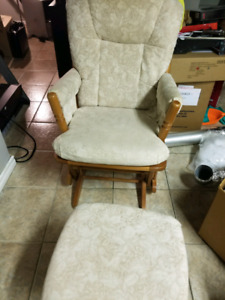GLIDER CHAIR AND OTTOMAN,  GOOD COND