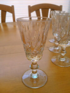 CROSS AND OLIVE CRYSTAL, Port/Sherry glasses