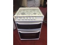 Fantastic double oven cannon Woburn gas cooker glass top 60cm can deliver 3 month guarantee