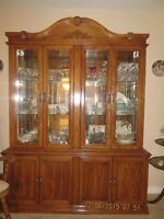 Dining Room Table/Leaf and Buffet/Hutch and 6 chairs