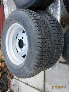 Tires and rims some for trailer Strathcona County Edmonton Area image 3