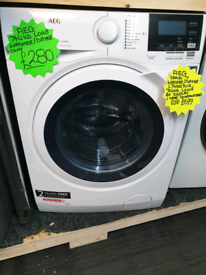 White aeg 7kg and 4kg load washing machine
