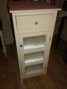 Bathroom cabinet with frosted glass windows