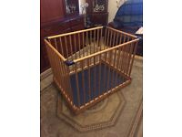Infants Wooden Folding Playpen