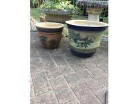 2 garden plant pots, plsnters