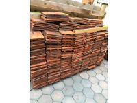 Reclaimed roof clay tiles