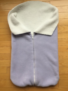 Unique Baby Gift: Custom-made Sherpa Baby Bunting