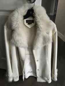 Suede Coat - white