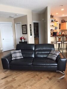 Mobler Leather Sofa and Loveseat