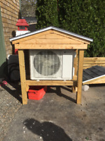 Custom heat pump stands $400