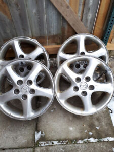 4 ALUMINUM RIMS 16 INCH FOR SALE!!!!!!!!!!!!