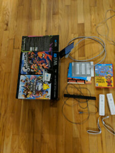 Wii U console, and extras.
