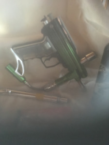 Air soft / 2 sling shots/ canisters/ accessories etc....