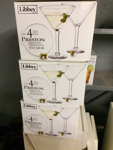 Martini Glasses x12 (Libbey Preston)