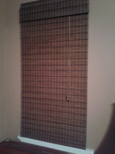 Woven Wood Roman Blinds - Set of 3