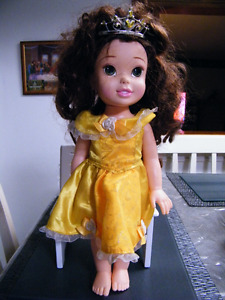 DISNEY BELLE DOLL WITH ORIGINAL DRESS AND CROWN