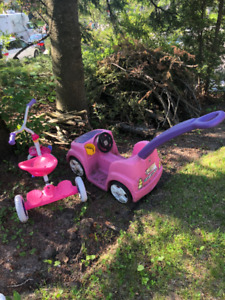 kids pink push buggy *TRICYCLE SOLD