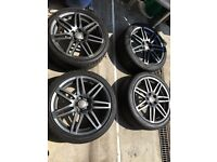 Audi A3 genuine black edition S Line wheels
