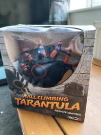 Remote controlled wall climbing tarantula. Only used once
