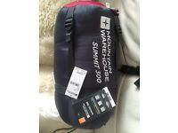 Brand new summit 300 sleeping bag- reduced to 25 now! Free mattress!