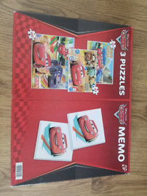 Cars puzzles and match a pair