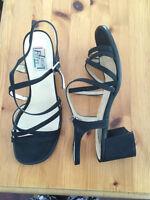 Black strappy Luca Ferri sandals (Ladies size 10)