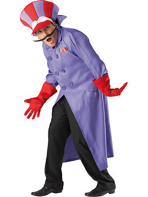 Adult Licensed Wacky Races Dick Dastardly Fancy Dress Costume Cartoon 80s - Wacky Races Kostüm