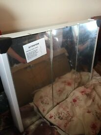 Brand new 3 door mirrored cabinet