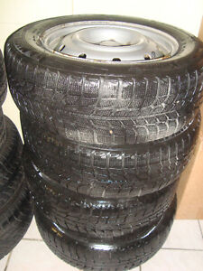 Eight sets of four tires & rims 205-55-16 Winters & All Season Cambridge Kitchener Area image 2