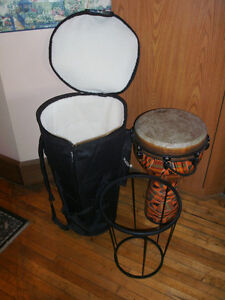 Djembe Drum, Deluxe Bag & Stand