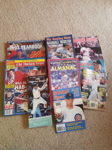 Baseball and Hockey guides/registers(1980's and 90's)