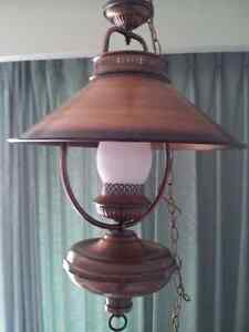 COPPER FINISH HANGING LAMP BEAUTIFUL CONDITION!!