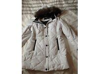 Winter white ladies coat new size 14