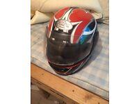 Motorbike helmet demon