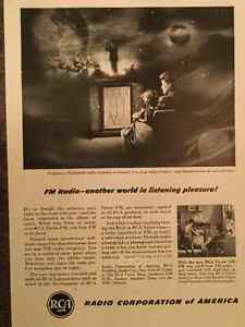 SALE! Vintage 1940s/50s RCA advertising (A028)