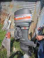 75 HP Mariner with controls, for parts or repair