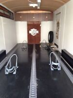 For rent or sale. 20' enclosed motorcycle hauler