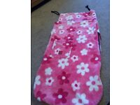 Buggy snuggle cosy toes / footmuff. Pink with flowers £15