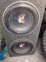 "Vintage Rockford fosgate punch 12"" subs"